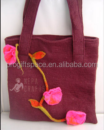 hot sale 2018 high quality new products eco friendly practical promotion wholesale felt woman hand bag made in China