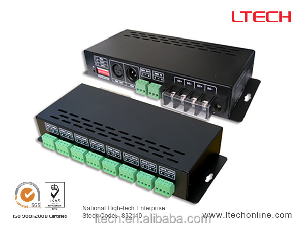China supplier Dmx To Pwm Rgb 16CH LED Dmx512 Controller LT-880-350 350ma constant current ,dmx multi channels controller