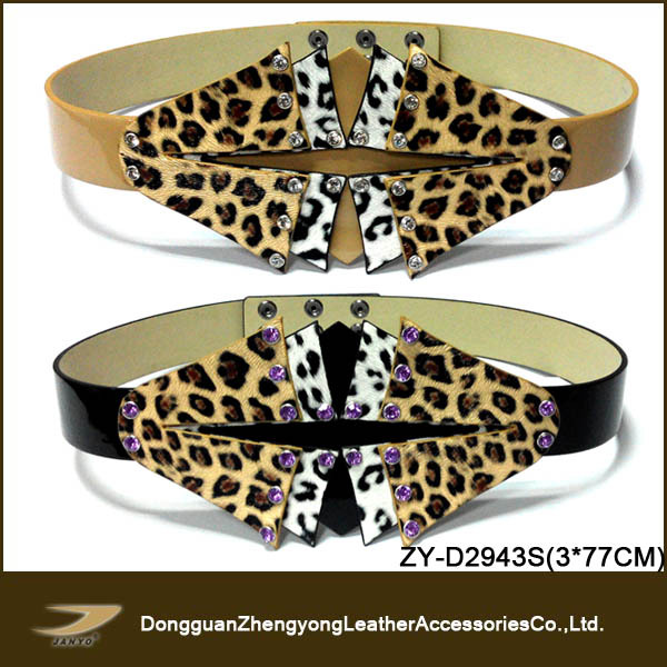 fancy rhinestone horse hair ladies wide belts