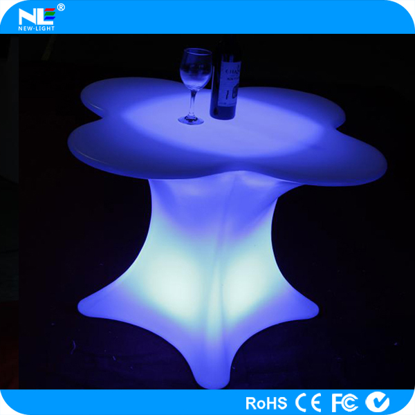 Illuminated modern acrylic led bar tables with remote control/Fashionable LED table lamp