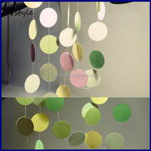 Photo Props Paper Circle Garland Wedding Favors Party Decoration Party Background Decorations Tissue Paper Circles SD053