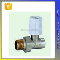 (2C-JE281) Lead Free Brass DN16*20*25 NPT/BSP thread Manual Brass DN32 Angle Valve
