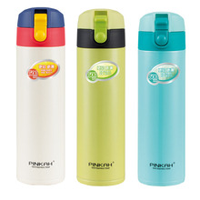 Pinkah Custom Double Wall Insulated Stainless Steel Thermos Vacuum Flask