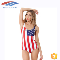 Wholesale Waterproof New American Flag Woman Girls Sexy Bikini Swimwear