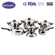 professional stainless steel waterless cookware /prestige nonstick cookware set