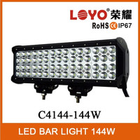 LOYO 3w four rows led light bar for truck/tractor/farming/minin/forklift/off-road leds 144w quad row led light bar