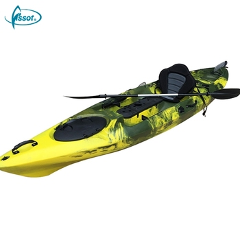 Hot selling sit in kayak fishing plastic boat