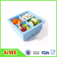 BPA Free flexible 4 cavity silicone ice cube trays