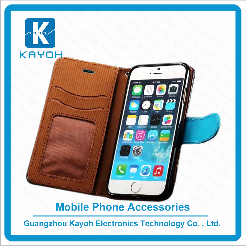 [kayoh]2016 Card Holder PU Leather Filp Wallet Cell Phone Case for iPhone 6 6s plus Mobile Phone Case