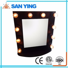 2016 Wholesale Cheap Price Theatrical Vanity Girl Hollywood LED Makeup Mirror with Light, lighted