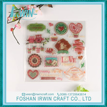 Good price silicone scrapbook die cut clear stamps customized