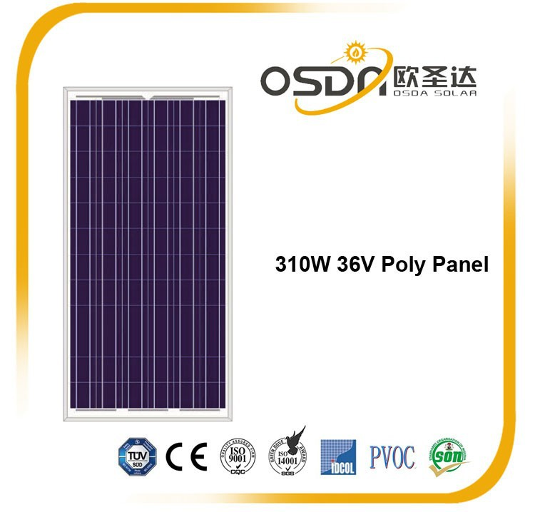 72 cells poly solar panel with TUV/CE/MCS/PV recycle