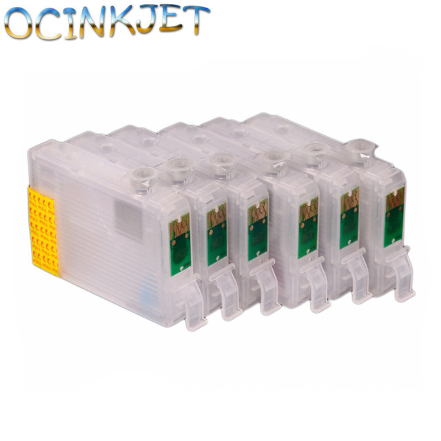 Ocinkjet Original Quality T0851N - T0856N Empty Refillable Ink Cartridge With Chip For Epson Stylus T60 1390 Printer