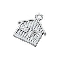 free shipping silver alloy big house family gift charms and pendant