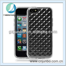 Transparent crystal diamond tpu case for iphone 5C