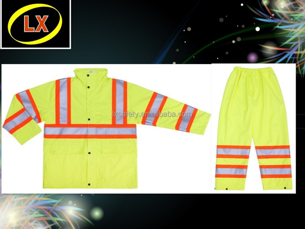 High Visibility Reflective Safety Rain Gear
