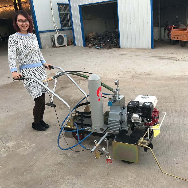 spray paint marking machine, cold airless road marking striper