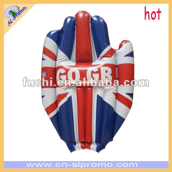 Inflatable England PVC Cheering Hand With Union Jack Flag