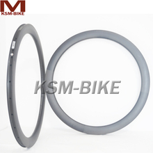 Clincher 50mm Carbon Rim Road Bicycle Rims 25mm Width 20 24 Holes Carbon Fiber Rims 50mm