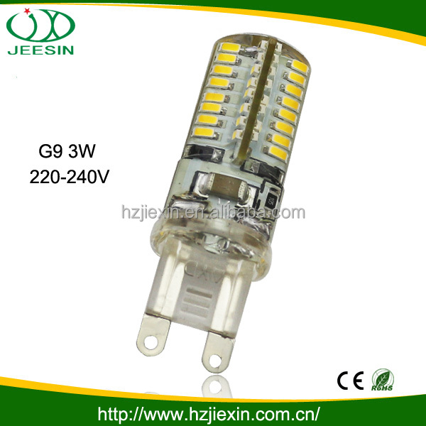 smd 3014 room dimmable g9 led lamp 3w