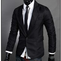 Wholesale 4colors new arrival Korea style Single button wholesale cheapest slim latest fashion men blazer