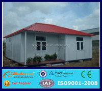 low cost 70 square meter prefab house sandwich panel