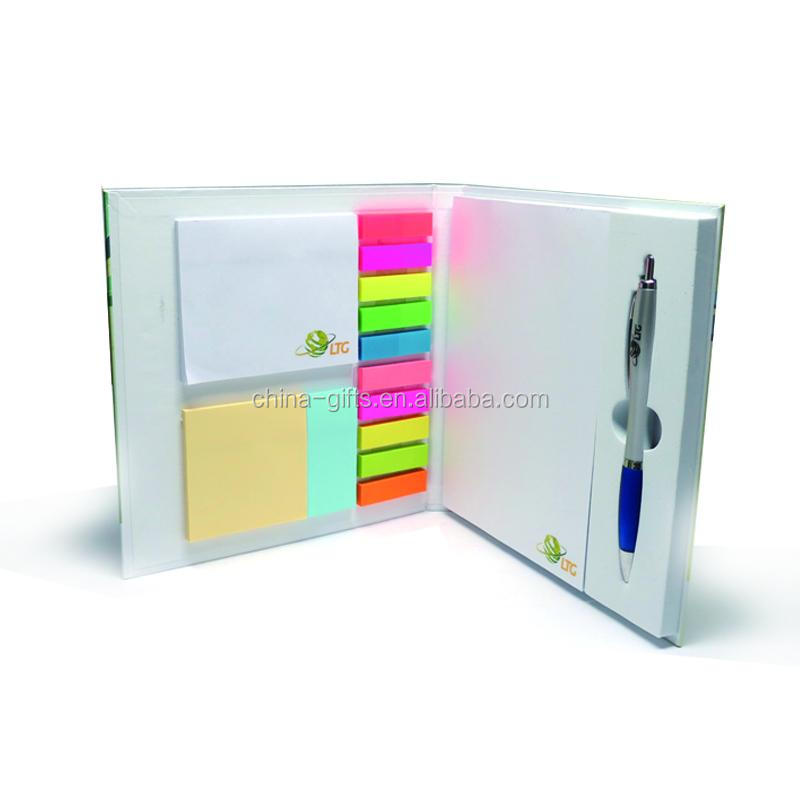 cardboard hard cover memo pad & sticky note & index with EVA pen holder