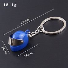 Fashion metal keychain safety helmet