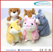 custom talking hamster mimicry pet plush toy hamster/electronic toys