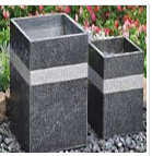 natural bluestone flower pot/blue limestone flower pot