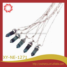 2014 hot sell real natural stone jewelry necklace