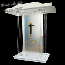 GUIHEYUN modern design church podium customized clear acrylic church pulpit