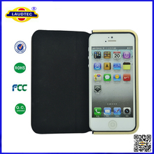 New Product Premium Leather Wallet Flip Mobile Phone Case Cover for iPhone 5 5S
