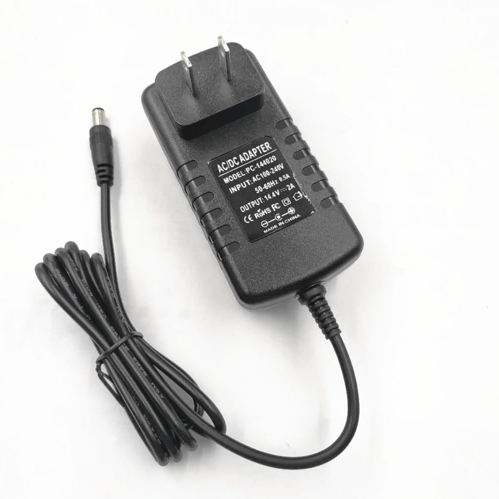 Li-Lon Battery Charger 14.4V  2A Ac/Dc Power Adapter 28.8W with Safety Mark