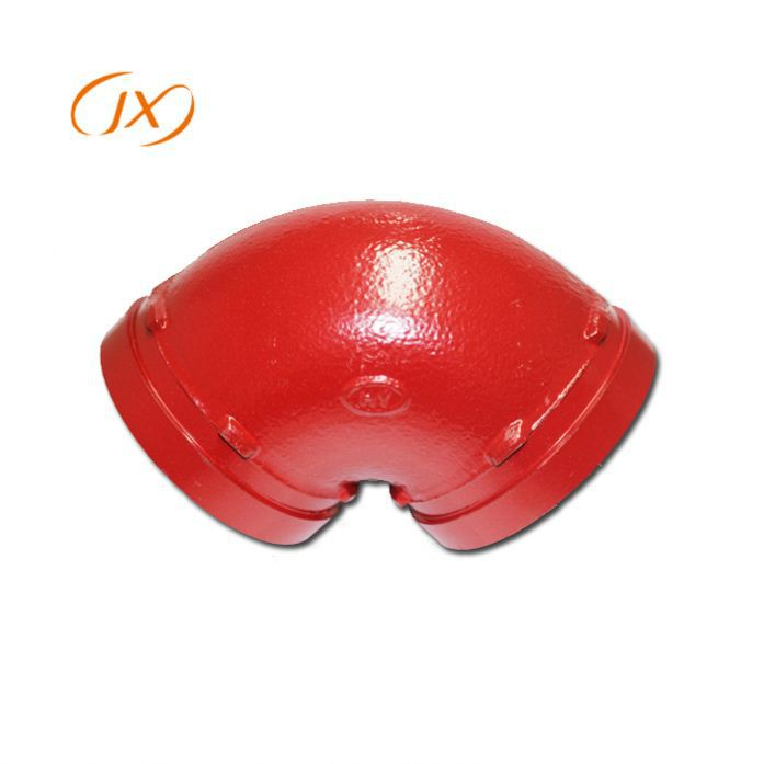 "ductile iron high quality 6"" 90 degree grooved elbow"