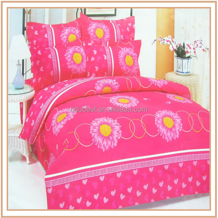 New Flanel 3D Oem Service Home Yarn Dyed Bedding Set Made In India