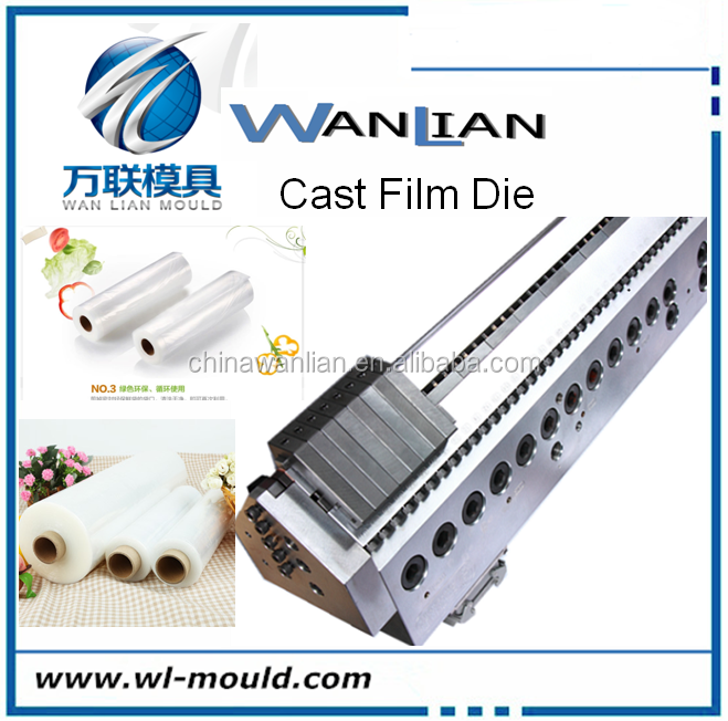 Clear colour PVC thin plastic soft roll film/sheet extrusion t die flat die head with high quality and best price