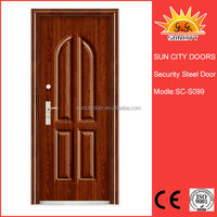 Decorative exterior louvered door flat