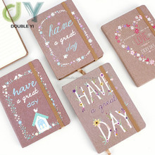 Popular Valentine's Day custom kraft paper notebook Rubber Banding Notepad Student Stationery Office Supplies
