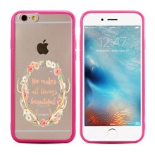 hot selling Coloured drawing pattern printing soft silicone bumper clear pc hard back case cover for iphone 7