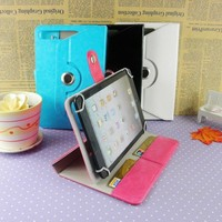 PU material shockproof case for ipad 6 universal 360 rotating tablet wallet case for ipad air 2 with card slots wholesale