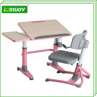 Classic designed desk and chair cheap metal children furniture set