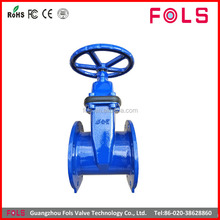 Hand Wheel Cast Iron Non-rising Stem Flanged DN250 Gate Valve