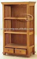 LIBRARY LAURENT MEDIUM 2 DRAWERS TALL CABINET