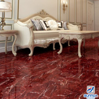 latest interior bathroom sitting room tiles design high glossy red inkjet glazed marble floor tiles