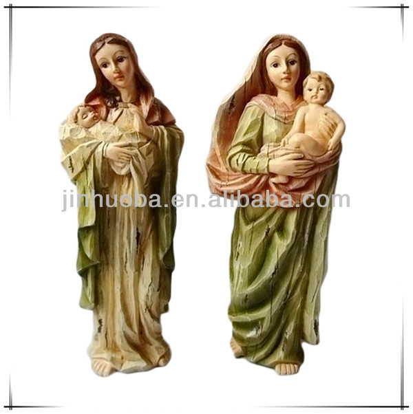 Hot sale home decorated polyresin virgin mary