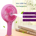 2017 New cooling usb rechargeable fan mini standing hand fan
