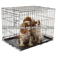 galvanized folding dog amimal cage