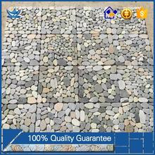 American style decoration exterior wall Pebbles sliced stone mosaic tile cheap backsplash tile