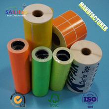 colorful customized price label sticker rolls and roll label sticker